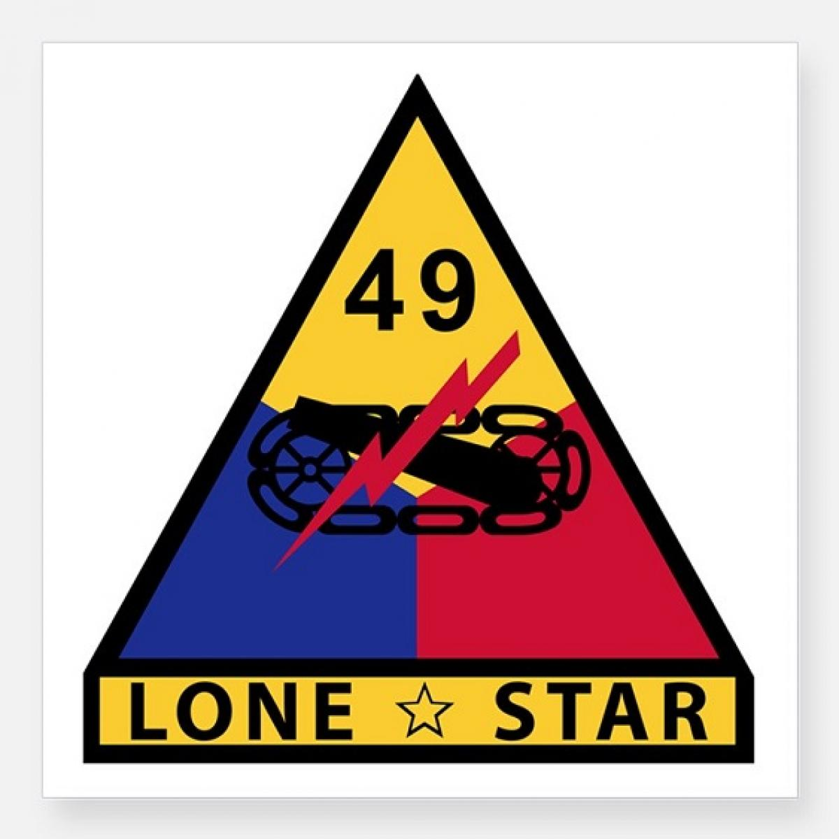 United states army 49th armored division lone star city of ok grove headstone symbols and meanings u s army 49th armored division lone biocorpaavc Image collections