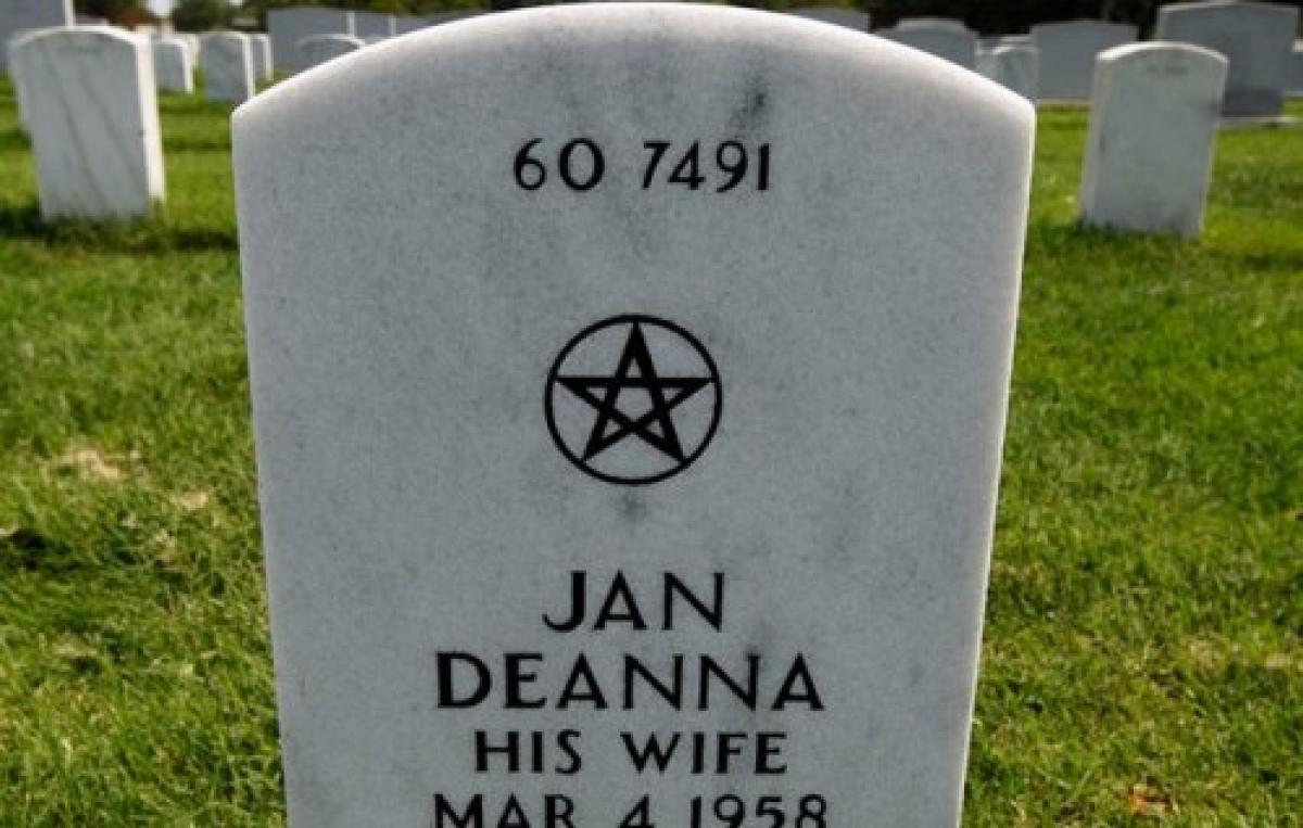 Pentacle wiccan city of grove oklahoma headstone symbols and meanings wiccan pentacle biocorpaavc Images